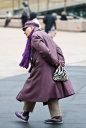 Women Fashion | NYFW 2012 | Street Style | Lincoln Center | Purple Coat