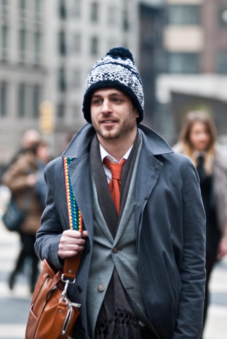 Men | NYFW 2012 | New York City | Orange Tie