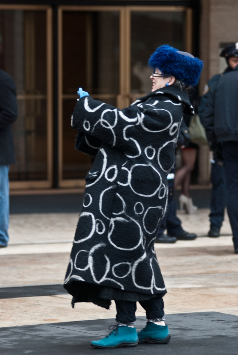 Women | NYFW Street Style | New York 2012 | Ring Patterned Coat