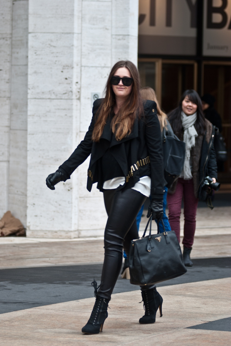 Leather Tights | Women | Fashion 2012 | New York City