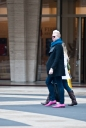 NYFW Street Style | Pink Shoes | Men | Lincoln Center 2012