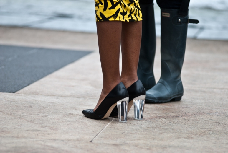 New York Fashion Week | Transparent Heels | Lincoln Center