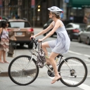 New York Street Fashion | Girl on Bike | Street Photography