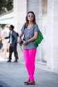 New York Fashion Week | Women Street Style | Pink Jeans