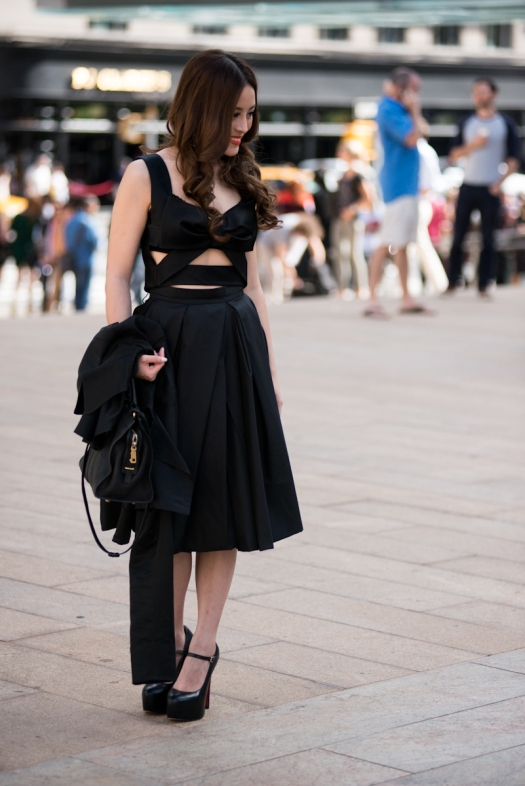 New York Fashion Week Street Style | Cutout Dress | Women's Fashion | On the Street | NYFW | Lincoln Center