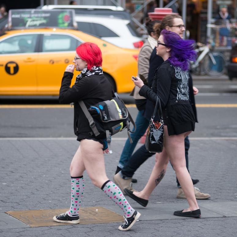 No Pants Subway Ride   New York City   Neon Hair   Fashion   Photography